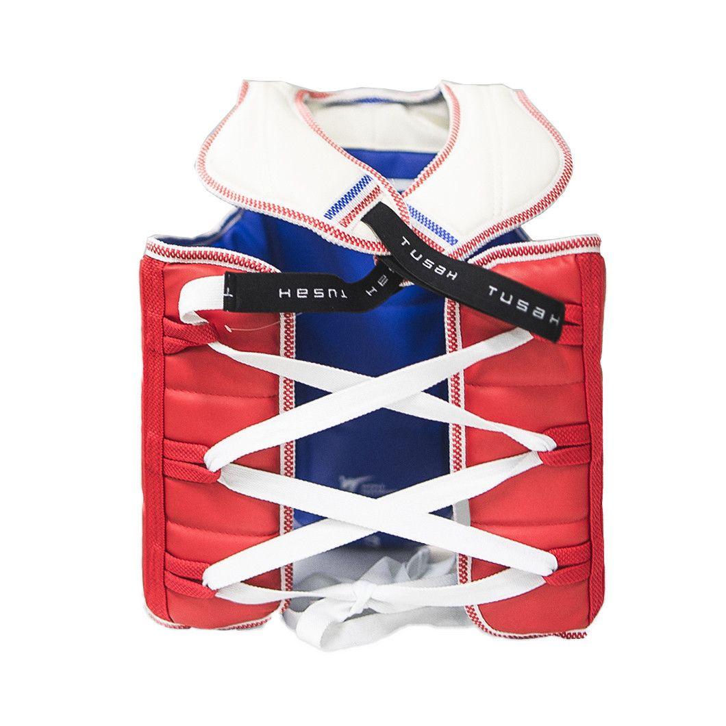 Tusah - Corpetto Reversibile per Taekwondo Omologato WT per competizioni e allenamenti