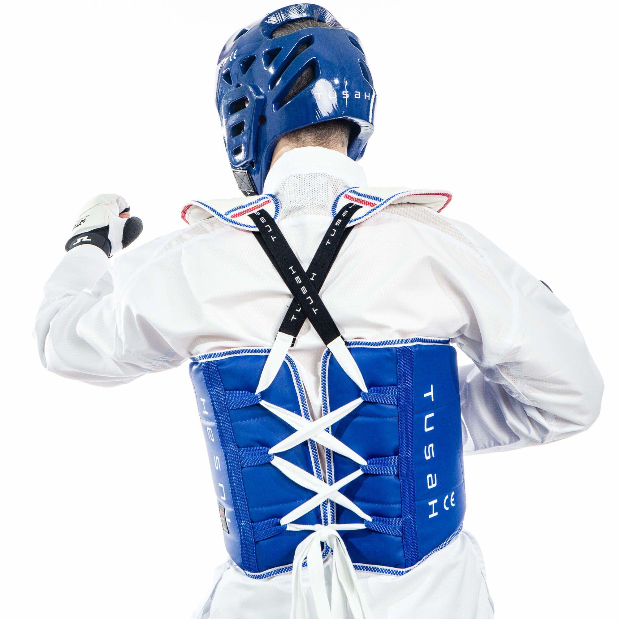 Caschetto Omologato WT WTF Tusah per Taekwondo adatto a competizioni ed allenamenti