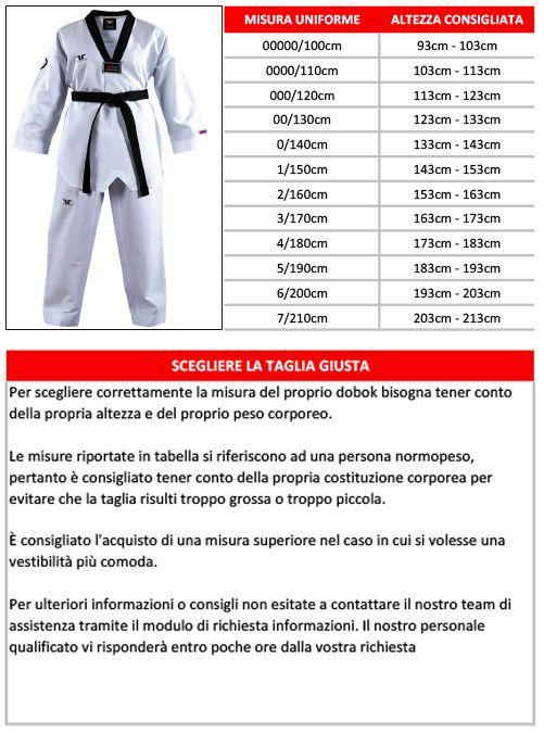 Tusah - Dobok Basic Uniform collo Bianco per Taekwondo con Ricamo su schiena Omologato WTF