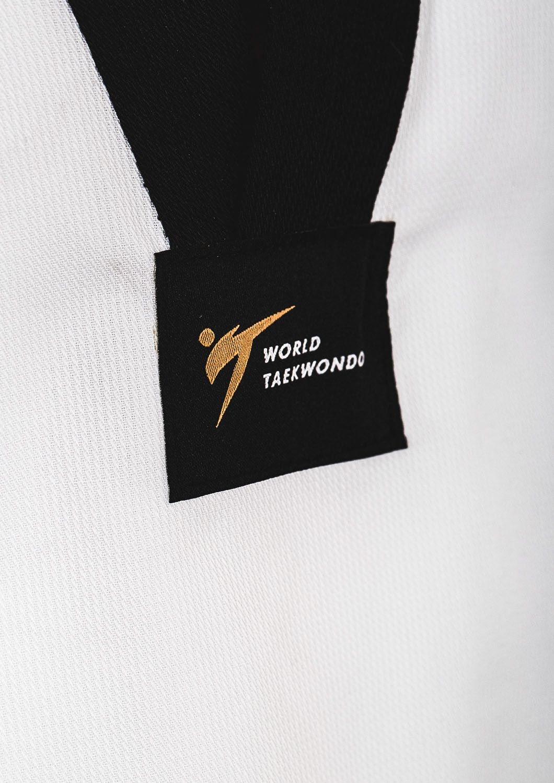 Tusah - Dobok Basic Uniform collo Nero per Taekwondo Omologato WT