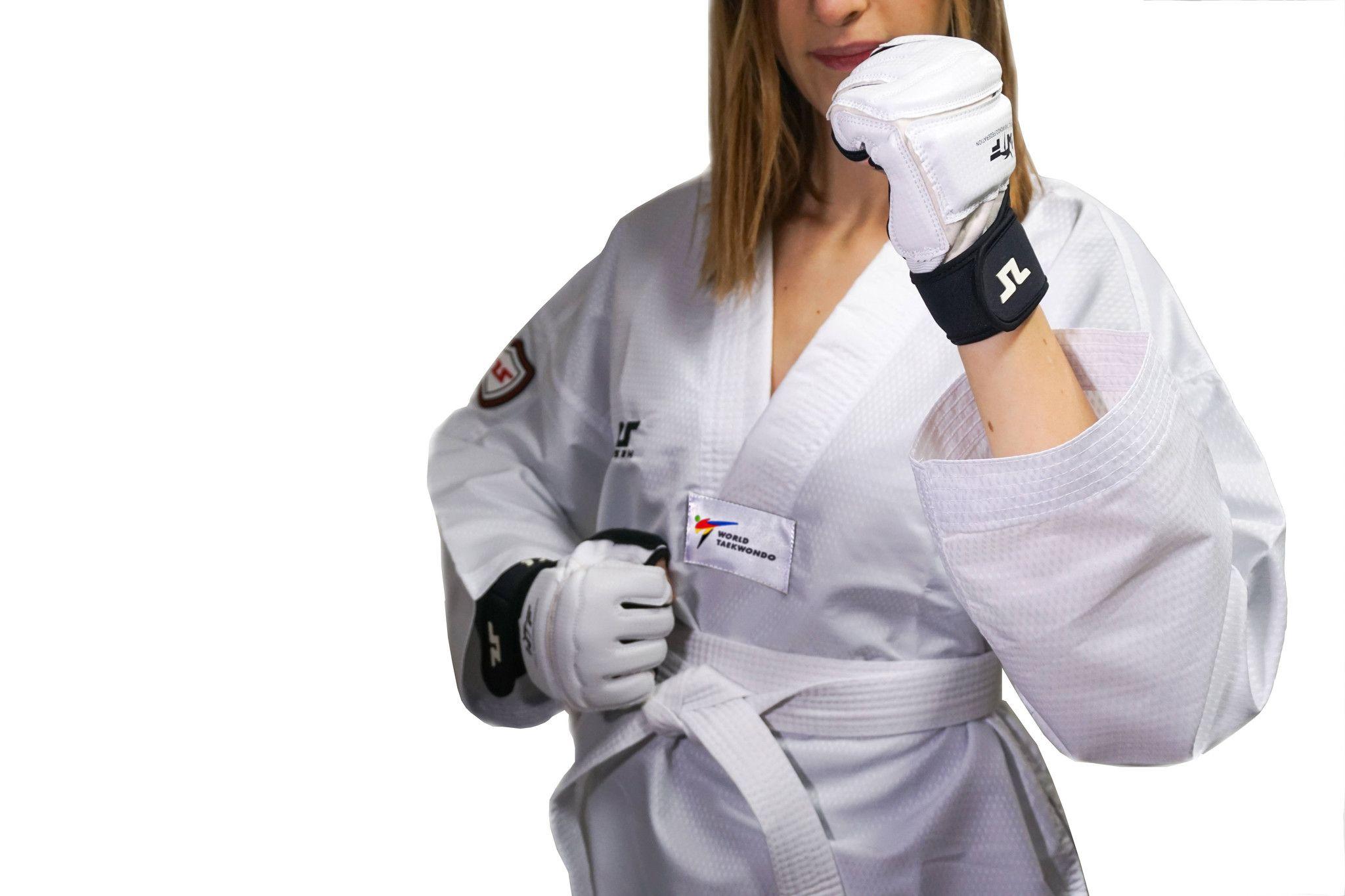 Tusah - Dobok EasyFit Fighter Ultraleggero per Taekwondo Omologato WT collo Bianco