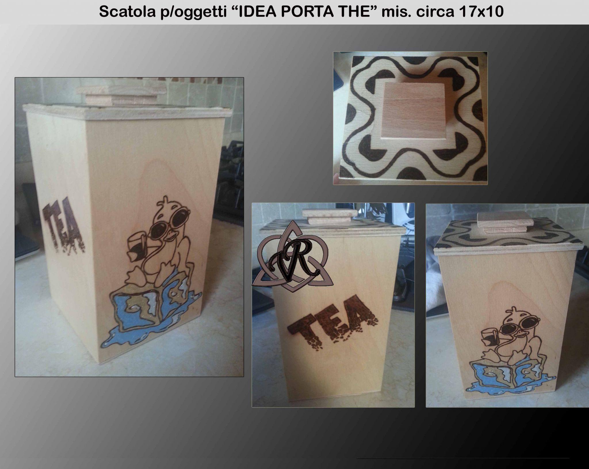 """Scatola """"IDEA P/THE"""" mis. circa 17x10"""