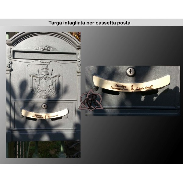 Targhetta Intagliata per cassetta posta