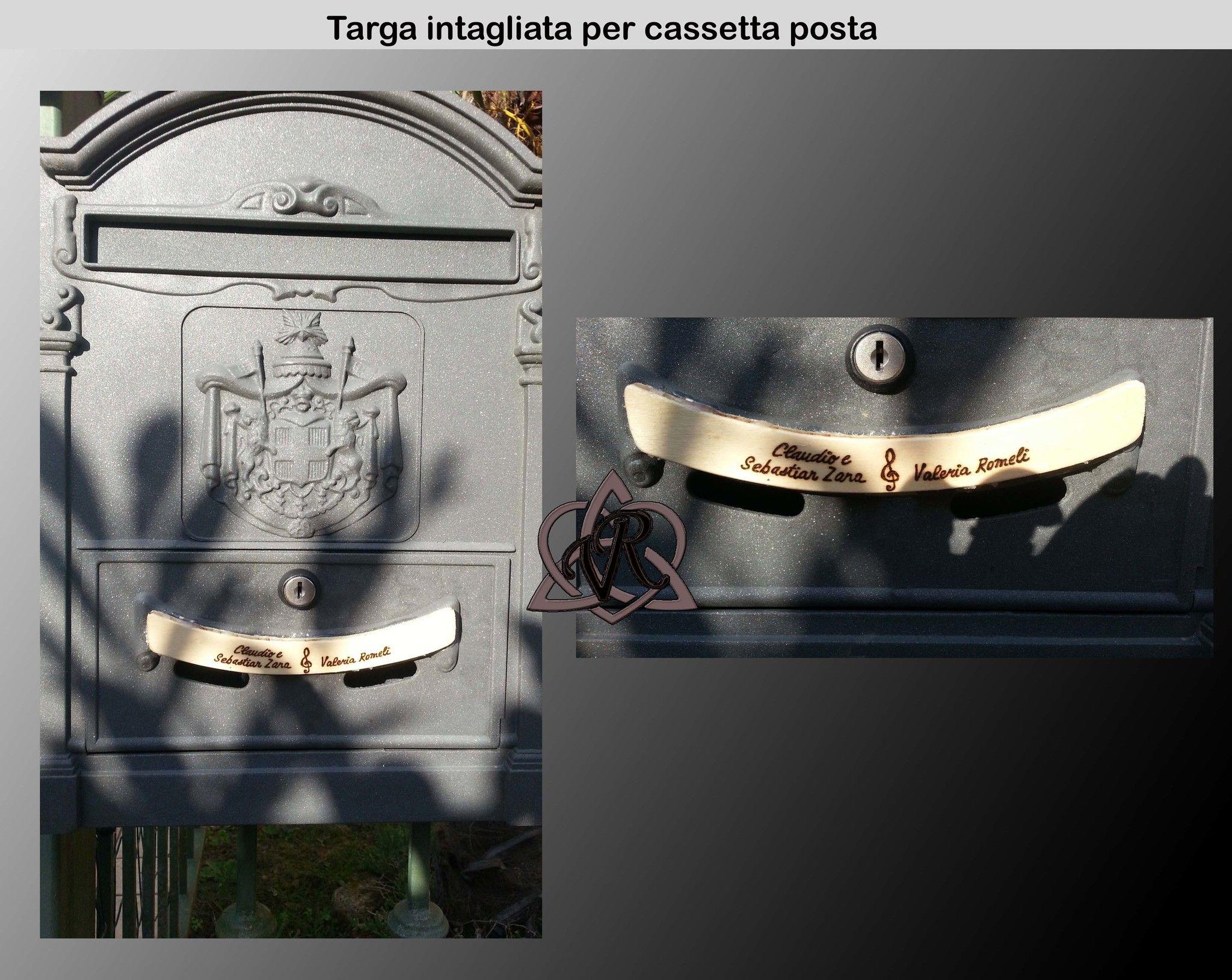 Targhetta intagliata per cassetta posta incisioni for Oggettistica cucina online
