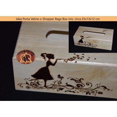 Idea Portaveline o Shopper Bags Box mis circa cm 22x13x12