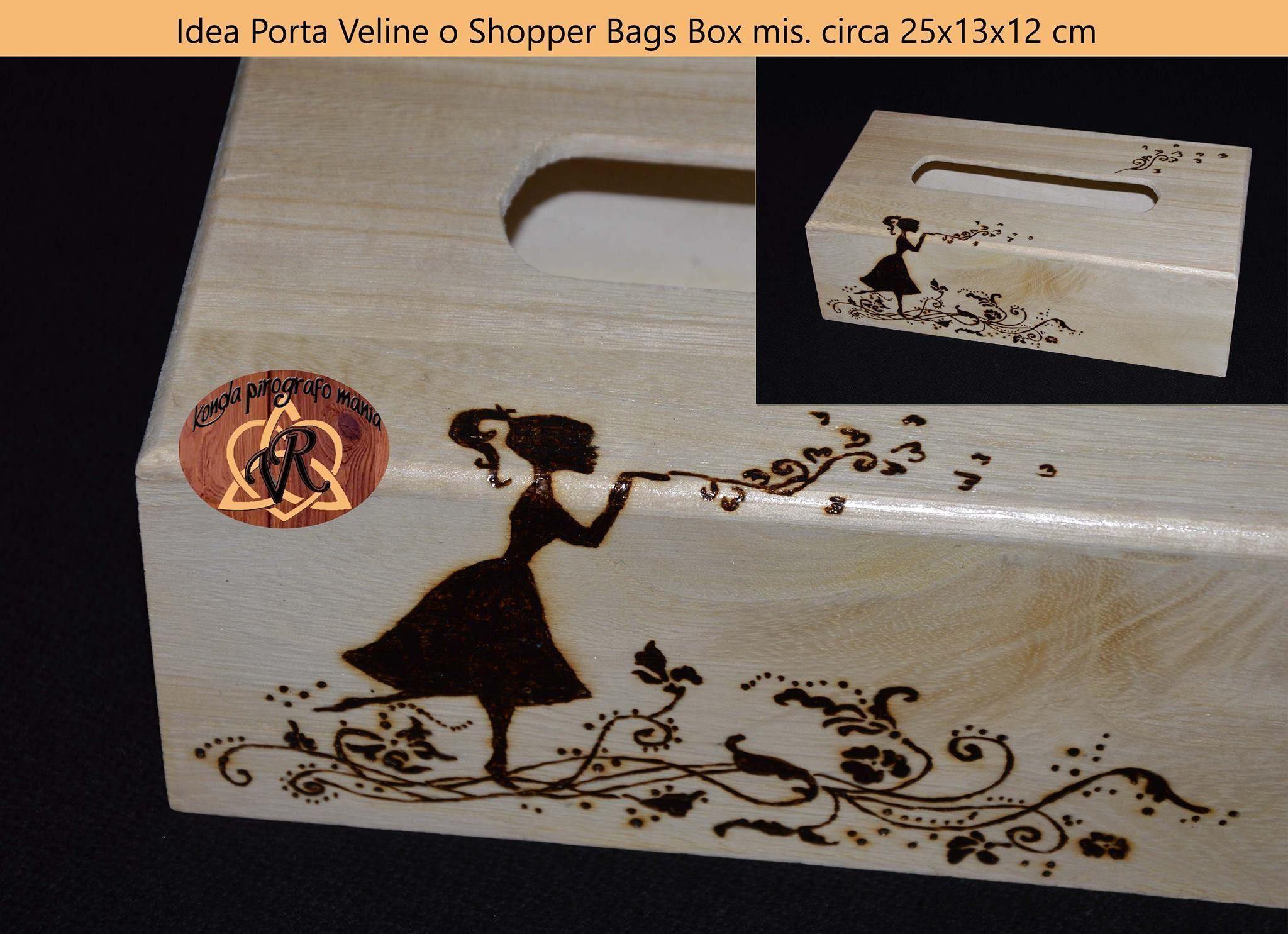 Portaveline o Shopper Bags Box mis circa cm 22x13x12