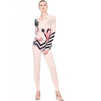 Camicia Stampa Fantasia Fenicottero Guess Cod.W81H23W70Q0