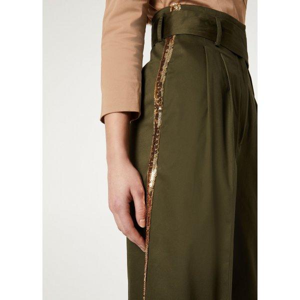 Pantalone Cropped Con Paillettes LIUJO Cod. CA0150T2398