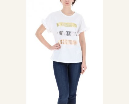 5965fa800dea T-shirt Mezza Manica Con Rouches Kocca Cod.ADLENA