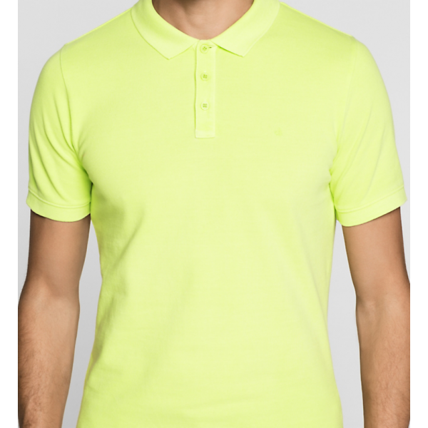 Polo Fitted Cotton Piqué Calvin Klein Cod. J3EJ303426-367 LIME