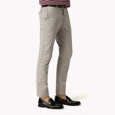 Pantaloni Chino Bleecker Slim Cotone Elasticizzato Tommy Hilfiger Cod. MW0MW00710-095 GRIGIO