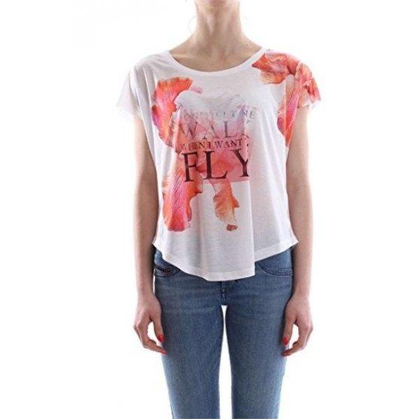 T-shirt Over Stampa Guess Cod.W72I68K54B0 BIANCO