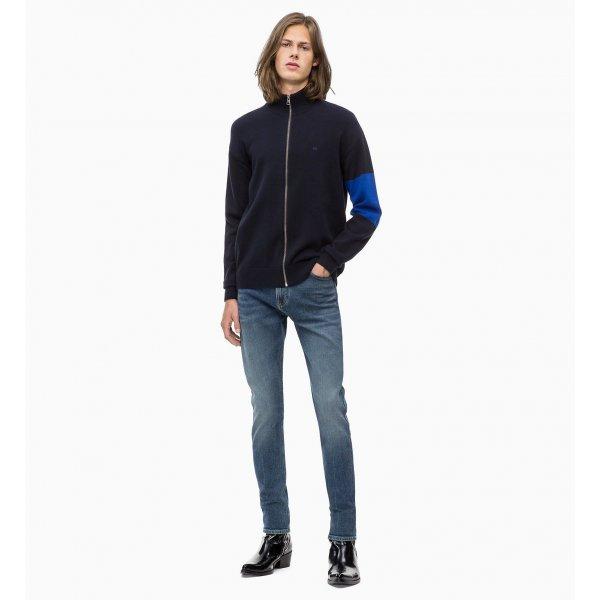 Cardigan Zippato Manica Con Riga Calvin Klein Cod. J30J309727
