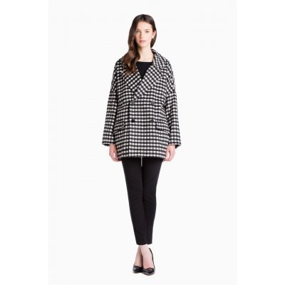 Cappotto Over Vichy Scee-Twin Set Cod.SA62LN
