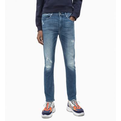 Jeans Skinny Stretch Strappi Calvin Klein Cod. J30J311870