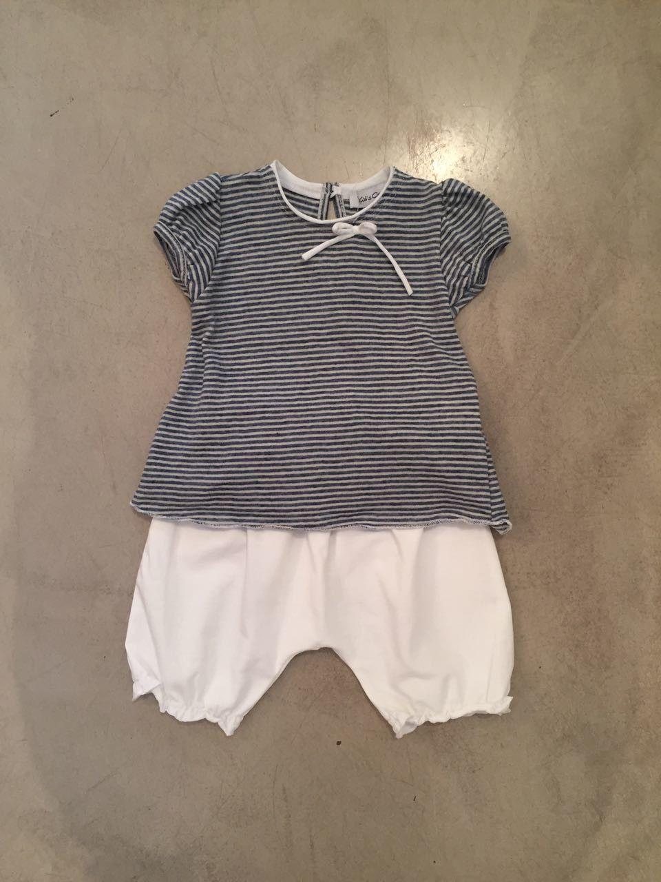 Completino pantalone e t-shirt righe KID'S COMPANY 71K1545