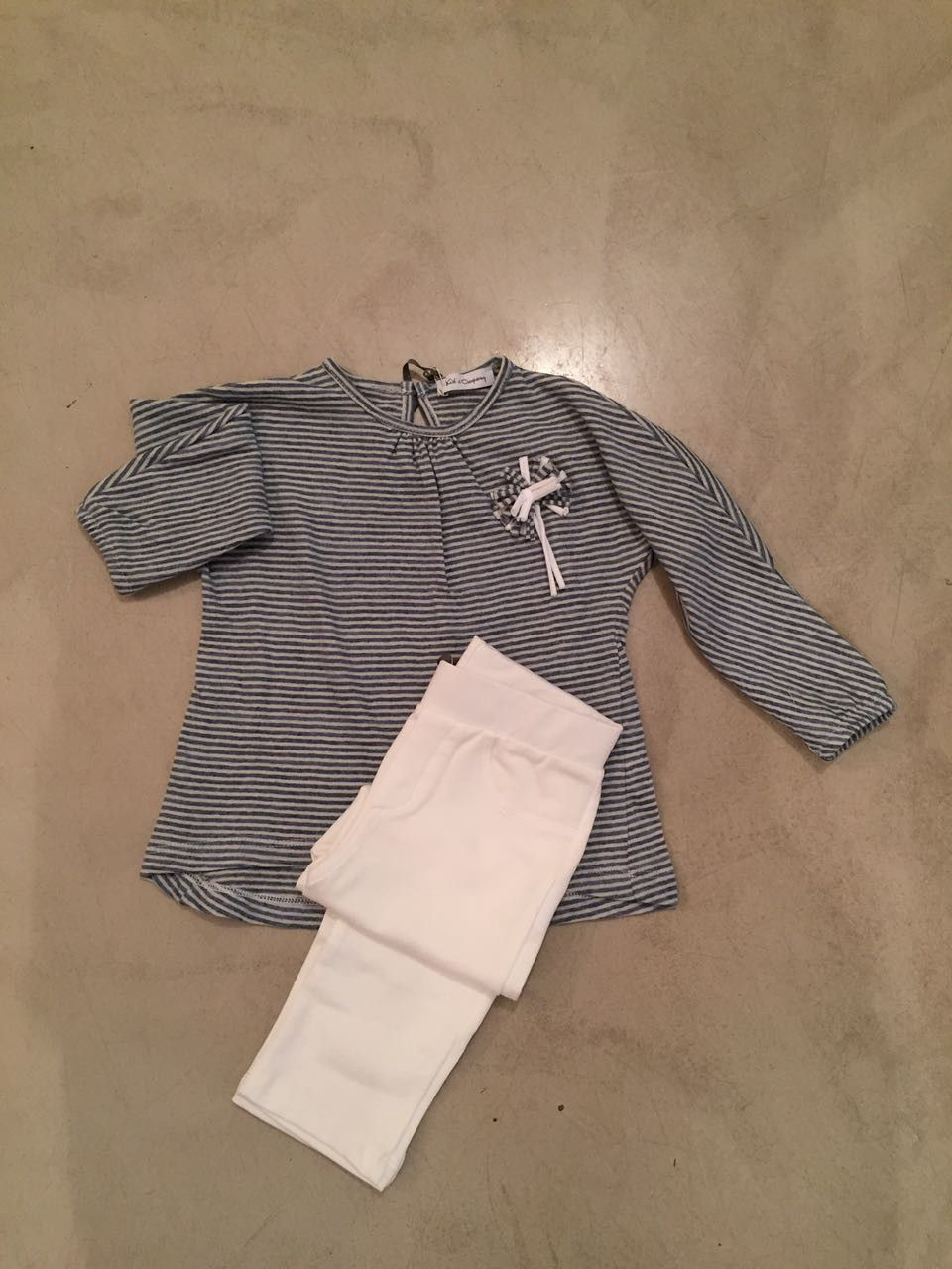 Completo maglia a righe e leggings KID'S COMPANY 71K1546