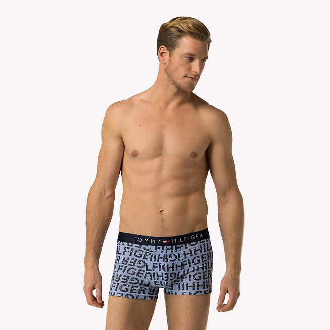 Boxer aderenti in cotone TOMMY HILFINGER PRINT LOGO