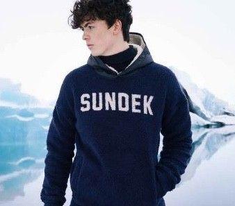 Man jaquard hoodie ARON SUNDEK