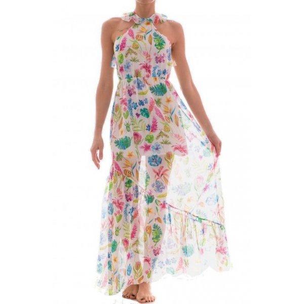 Copricostume Long Dress Botanic PIN-UP STARS 18P162A