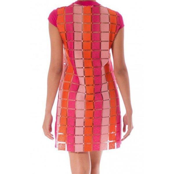 Copricostume Oriental Mini Dress Macramé Quadri PIN-UP STARS 18P371A