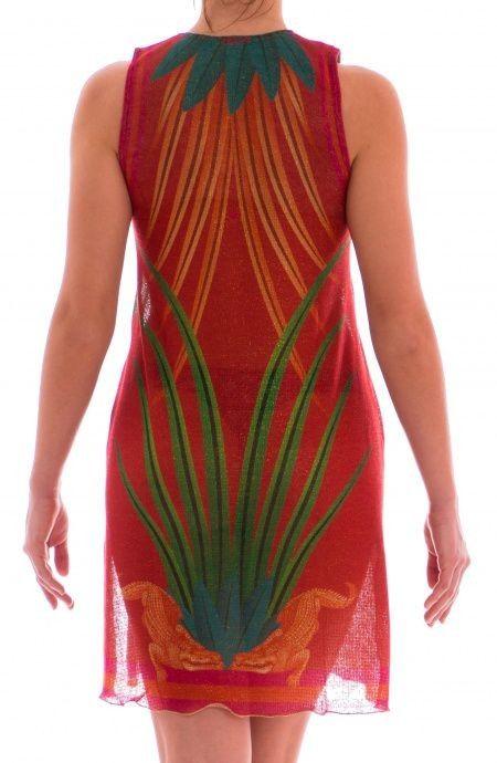 Copricostume Mini Dress Tessuto Lamé Jungle PIN-UP STARS 18P364A