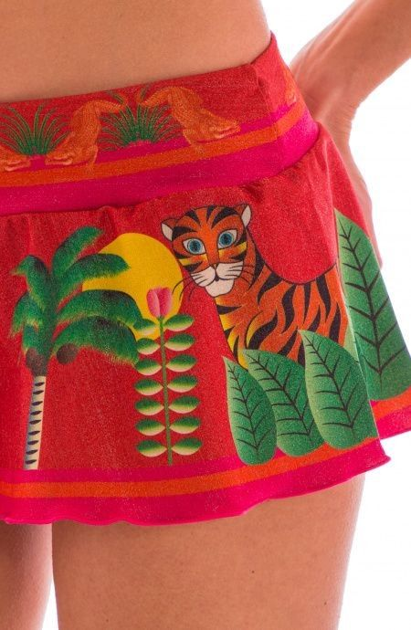 Short Lurex Jungle PIN-UP STARS 18P358SH
