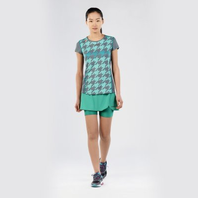 T-Shirt Macron Fohen Pro Tech Run Donna Col.GrapichAlu/MintJade