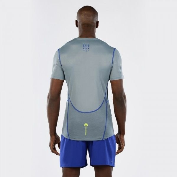 T-Shirt Macron Zephiro Pro Run Tech Uomo Col.Aluminium/Carbon/Copy