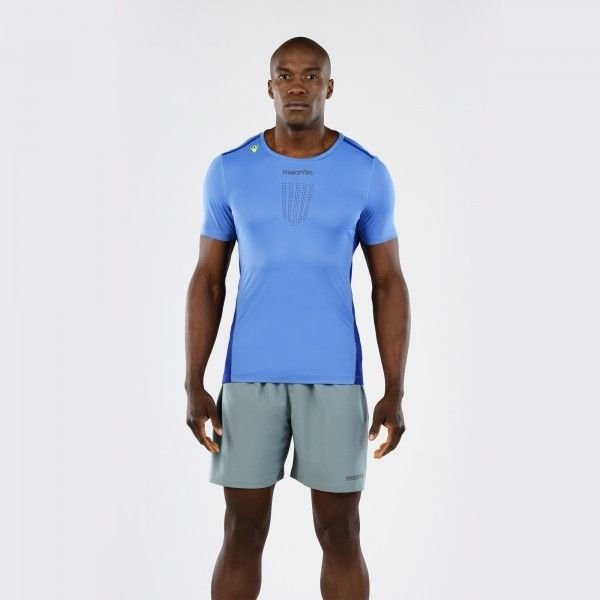T-Shirt Macron Zephiro Pro Run Tech Uomo Col.Onda/Copy