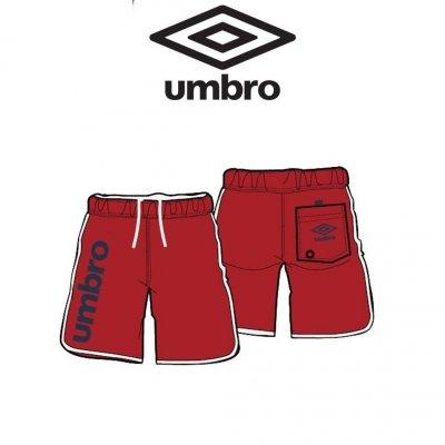 Bermuda Umbro S100S Uomo Col.Rosso/Bianco