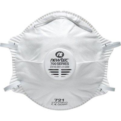 Mascherina in tessuto non tessuto per polveri con valvola di espirazione FPP2 NEWTEC 721