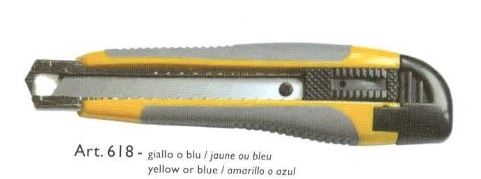 Cutter con lama a spezzare mm 18 manico bicomponente fermo automatico