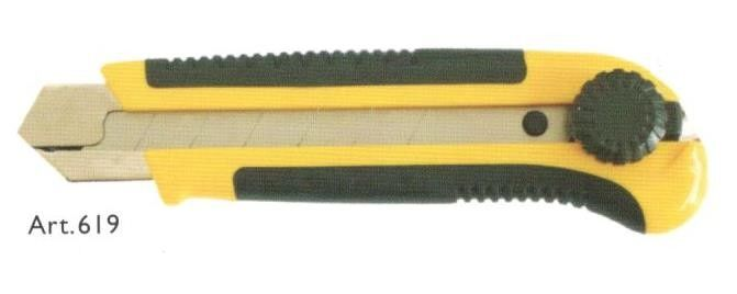 Cutter con lama a spezzzare mm 25 fermo manuale a rotella