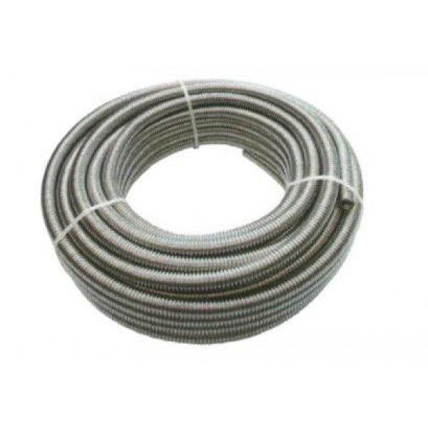 """Tubo corrugato nudo per acqua da 1/2"""" mt 10 in acciaio inox AISI 316L UNIROLL"""