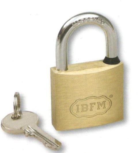 Lucchetto ottone a chiavi eguali mm 40 ad arco in acciaio temprato