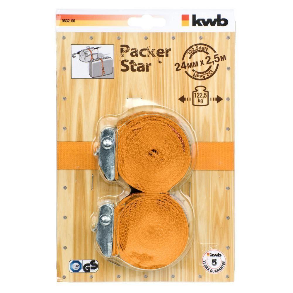 Set 2 cinghie con fibbia  in poliestere resistente KWB 983200