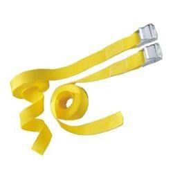 Set 2 cinghie con fibbia nastro mm 25 m 4,5 FACOPLAST nastro giallo