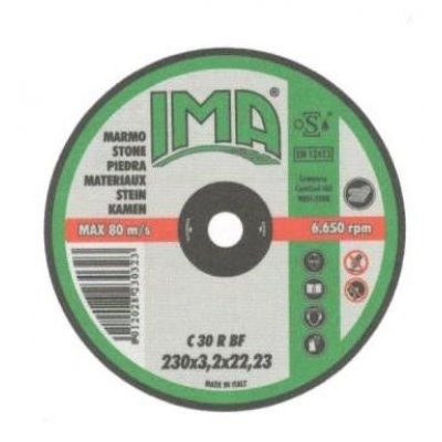 Disco per sbavatura pietra d. mm 115 x 6,4 IMA
