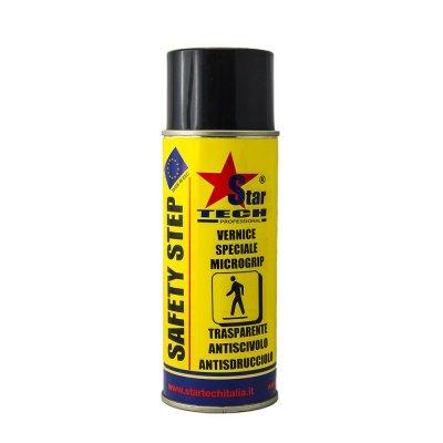 Vernice antiscivolo antisdrucciolo trasparente spray 400 ml SAFETY STEP STAR TECH