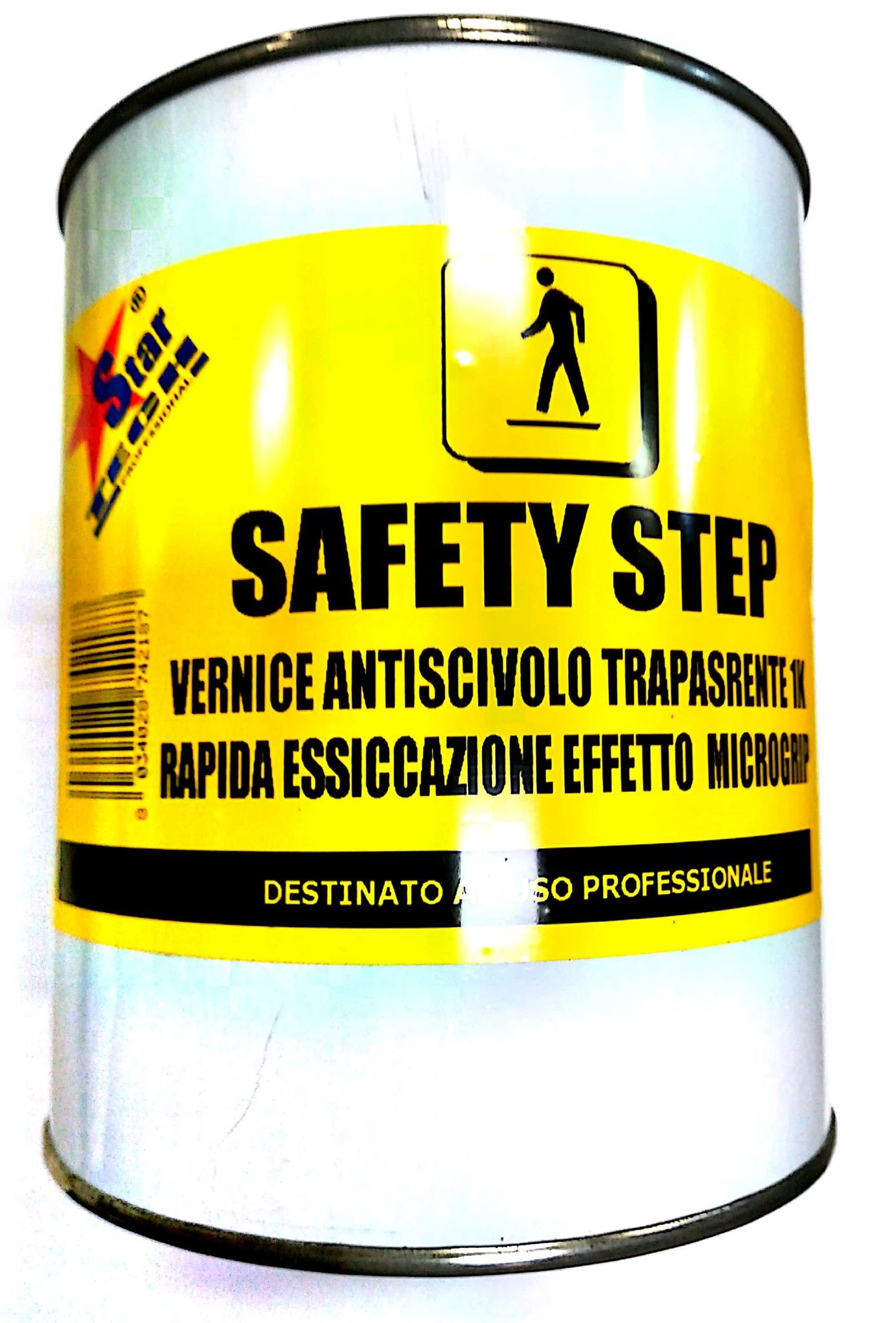 Vernice antiscivolo antisdrucciolo trasparente 750 ml SAFETY STEP STAR TECH