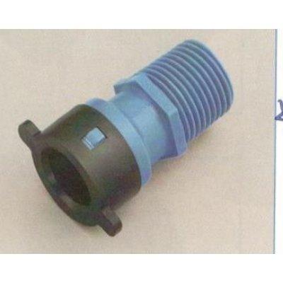 "Raccordo diritto per tubo BLU-LOCK mm 16 X M 1/2"""