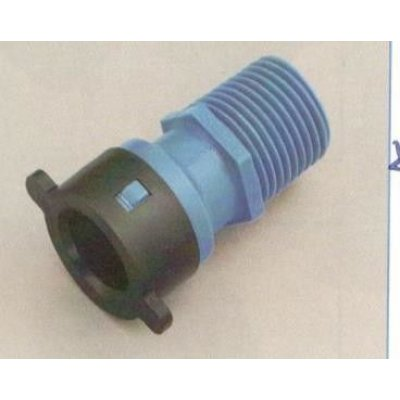 "Raccordo diritto per tubo BLU-LOCK mm 16 X M 3/4"""
