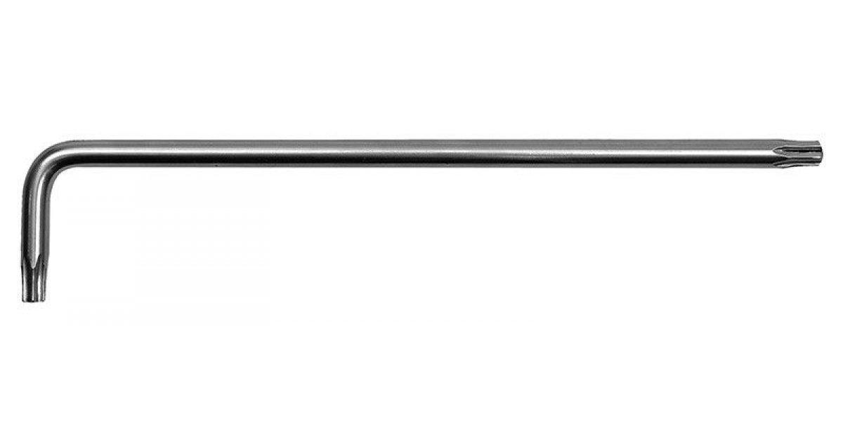 Chiave torx con foro TX 30 piegata tipo lungo L. 160 x 28