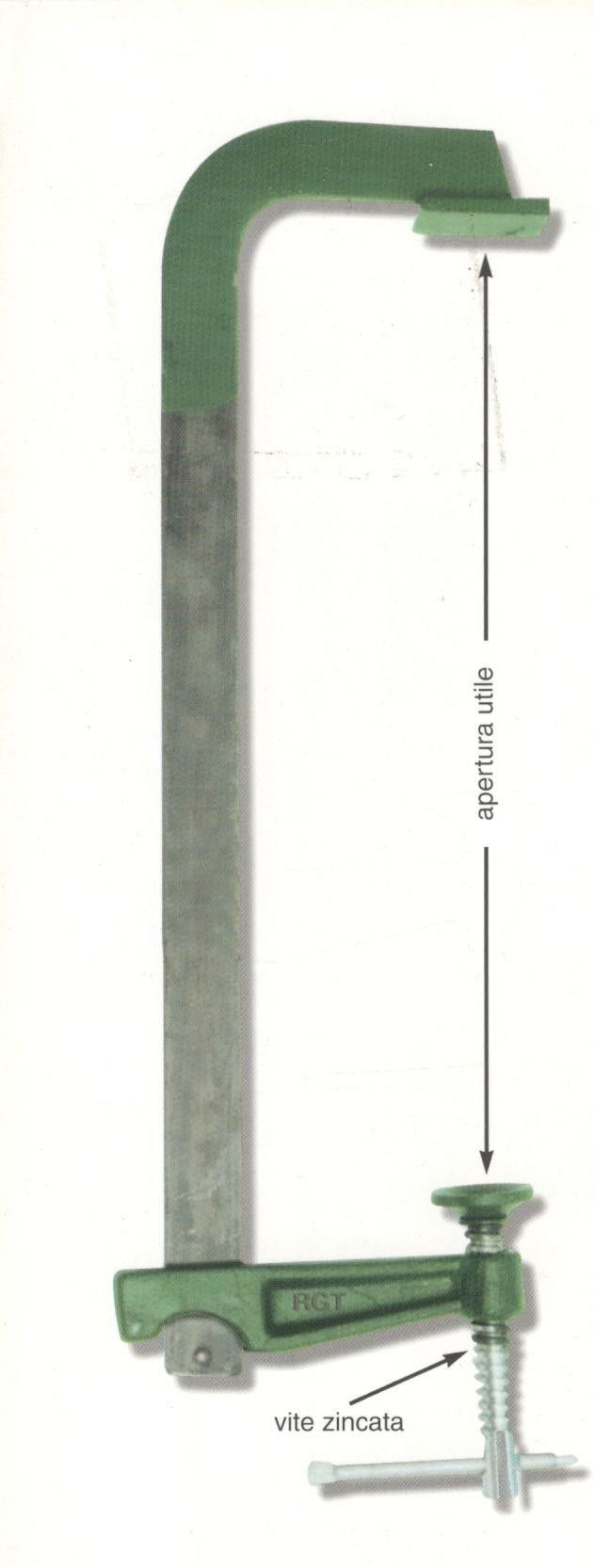 Strettoio falegname a F cm 200 asta mm 40 x 8