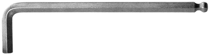 Chiave a brugola lunga mm 8 con testa sferica satinata FERMEC 302-8
