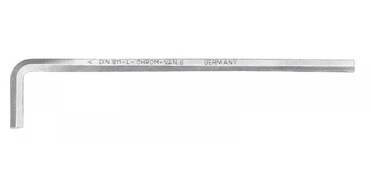 Chiave a brugola lunga mm 4,5 satinata FERMEC 911-L-4,5