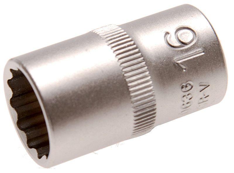 "Bussola poligonale 1/2"" x 16 mm satinata BGS10636"