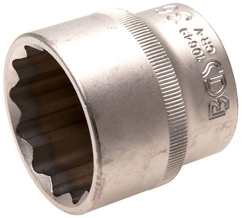 "Bussola poligonale 1/2"" x 36 mm satinata BGS10649"