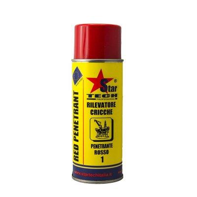 Rilevatore cricche rosso spray 400 ml RED-PENETRANT STAR TECH